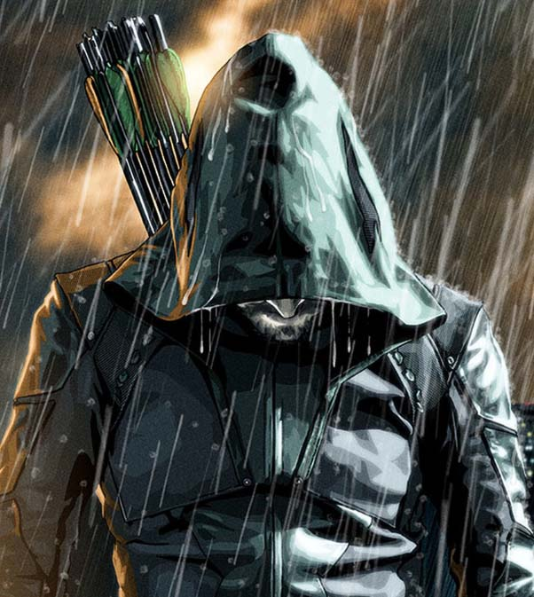 arrow leather hood coat is the most important feature for cosplay him